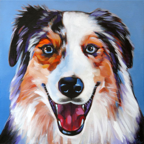 Pet portrait of Ajax, Awesome Aussie from Phoenix, Arizona by Marna Schindler