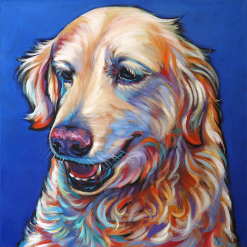 Pet Portrait of Handsome Golden Retriever Curtis, from Del Mar, CA