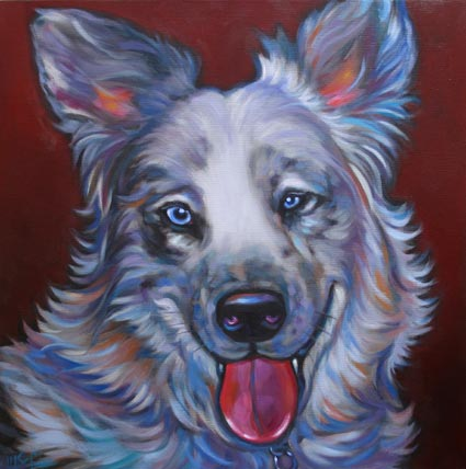Fallon, pet portrait of the fabulous aussie from Phoenix, AZ