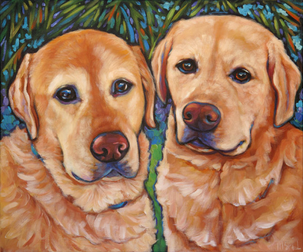 Pet portrait of Hugo and Oliver from Tucson, AZ
