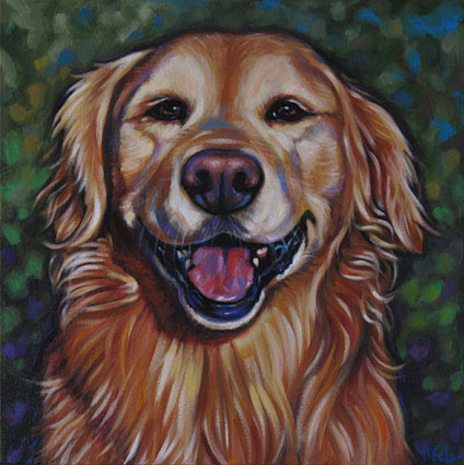 pet portrait of Jessie, sweet golden retriever from San Diego, CA