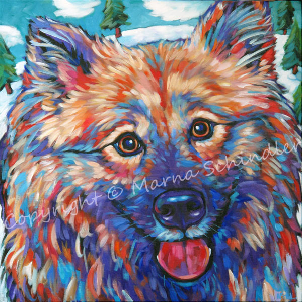 Pet portrait of Kirby, from Painseville, Ohio, by Marna Schindler