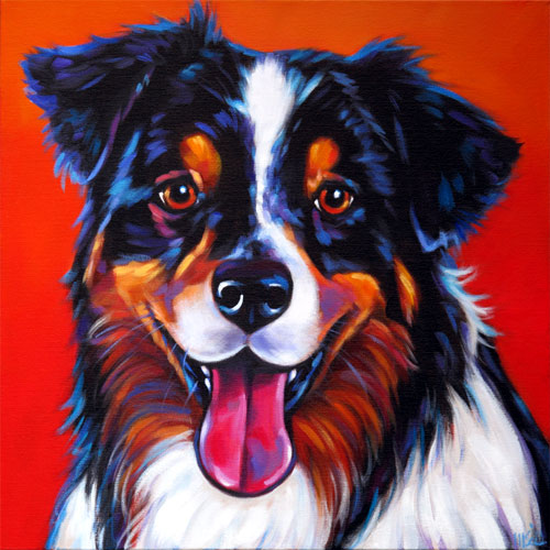 Pet Portrait of Leggo, Awesome Aussie from Phoenix, Arizona by Marna Schindler