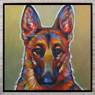 Lucy, pet portrait of Beloved German Shepherd living in San Diego, CA