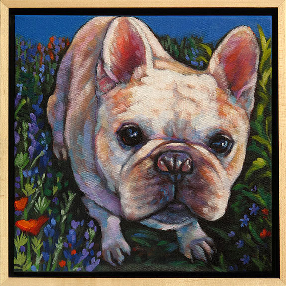 Pet painting of Mr. W, French Bulldog from Woodside, CA