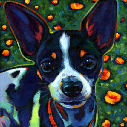 Commissioned pet portrait of Pablo, from San Diego, CA