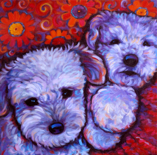 Pet portrait of Phyllis and Henry, from Coronado, CA