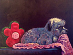 In Memory of Rascal, pet portrait by Marna Schindler