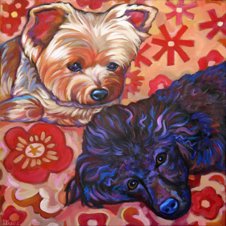 Sadie and Beau Pet Portrait