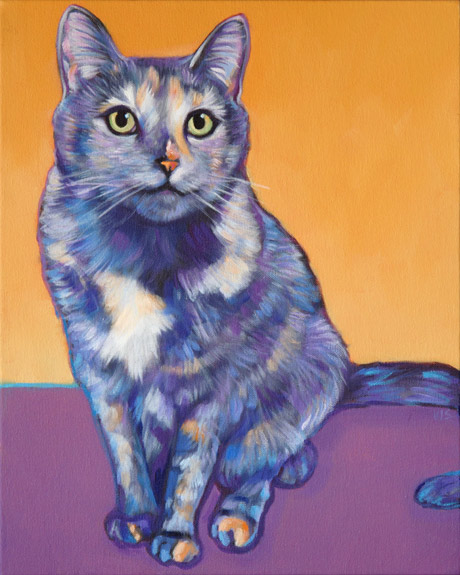 Sadie memorial cat portrait by Marna Schindler, from Albuquerque, New Mexico
