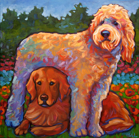 Ziggy and Rudy pet portrait
