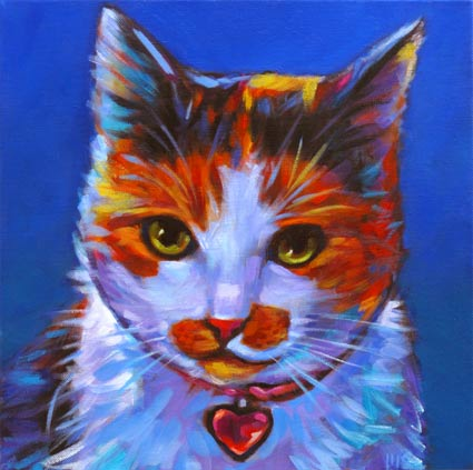 Pet portrait of Belle the beloved kitty