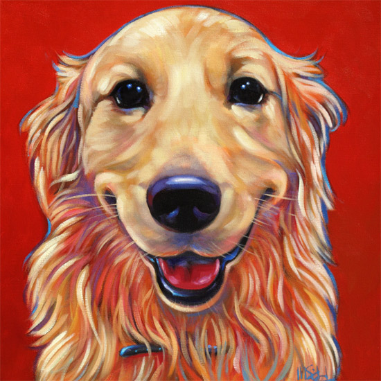 Pet portrait of cherished Golden Retreiver from Asheville, North Carolina by Marna Schindler