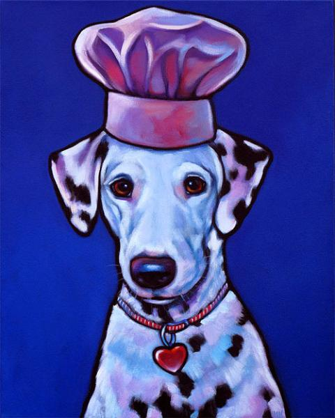Memorial painting of Amelia, Dalmatian from Phnoenix, Arizona by Marna Schindler