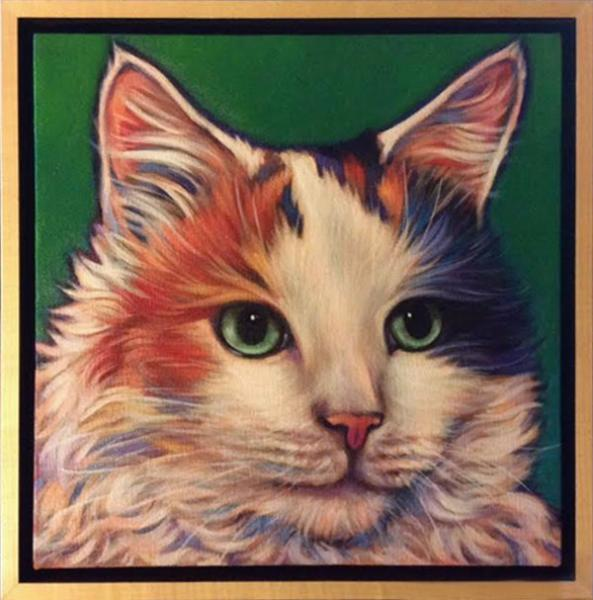 Cali, pet portrait of beloved companion fondly remembered, by Marna Schindler