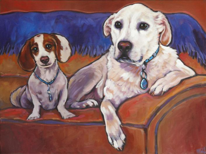 Pet portrait of Jack and Rudy from San Diego, CA by Marna Schindler