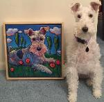 Pella with her painting!
