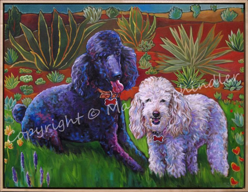 Pet portrait of Shylee and Chancey by Marna Schindler